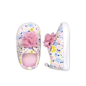 Baby size 0-3 months. Cute flowery shoes for girl